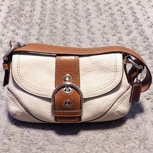 Coach Soho pebbled leather flap buckle bag